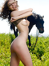 Teen Babes: Awesome Angel with a Horse