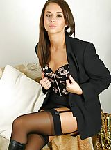 Stockings Pussy: Promotional gallery for Louise L with samples from some of her sets.