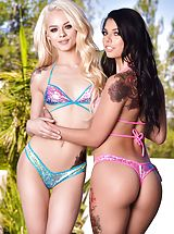 all ladies shaved, HardX - Elsa Jean and Markus Dupree and Gina Valentina