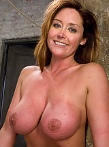 Milf Pics: Glamour model Christina Carter bound, tortured and made to cum.