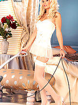 Lingerie Babes: Blond and magnificently gorgeous, this is Tenaya's  first and only XXX shoot!