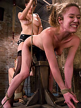 Kink Pics: Two hot doms gang up on Jade Marx and force her to cum with electricity!!!