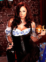 Gianna Michaels is your very own beer wench in this hot set!