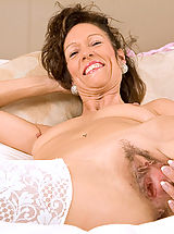 Hairy Snatch, Mature milf India loves playing with her pussy with a pink dildo until she explodes in orgasm