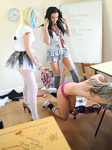 Secretaries in High Heels Candice Collyer and Christy Cox and Kayleigh Williams 2 in December 11