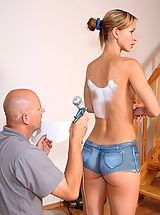 Jeans Pics: susana spears 01 bodypainting in public