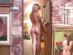 Hot Bod, Alison Angel gets naked with the art