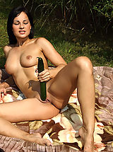 shaved vagina, abbie cat 02 picnic inserting banana in vagina cucumber in pussy