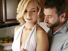 Babe, Kate England may be doing the dishes, but her mind is on something a whole lot hotter. When James Deen joins her at the sink and starts dropping kisses on the back of her neck