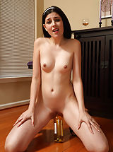 stories tantes fotze lecken, Teen Rams Wine Bottle and Spreads Pussy with Candles