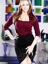 Julia Ann, Chad Alva Amazing Girl reveals her bare juggs, draws down her under garments and opens her legs and masturbates her snug crack