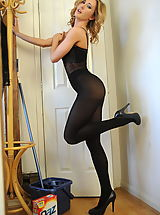Sexy Girl, Secretaries in High Heels Miss Sam in October 2011