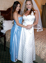 Content of Alexis Amore - Alexis was such a beautiful bride's maid. She looked sexy as hell in that dress. What made it even better is that after the ceremony we went back to my hotel room and took turns with the groom and his big, juicy cock...
