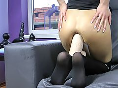 Babe, 14,BLACK WIDOW HUGE TOY ANAL FUCK