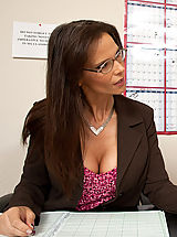 Naughty America Pics: Horny teacher takes her students cock in her ass
