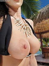 Nipples Pics: Bare Sexy Adulteress 947 Breanne Benson shows those tremendous boobs
