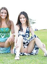 als scan models, Mary and Aubrey Pantiless in Hawaii