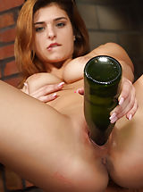Mature Votzen, Leah Gotti Spreads with Candles and Rams Wine Bottle