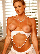 Tan Line Babes: Dena Anne, On the Bed