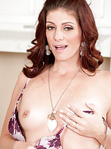 Milf Pics: Alicia Silver identified for Small Boobs,Landing Strip Pussy,Redhead,Long hair,Bras,Masturbation,Wet,Thongs,High Heels,Mini Skirt,Natural,Milf
