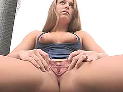Clit Pics, Kiera spreads pussy at the fire station