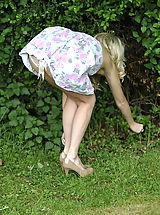 UpSkirt Pics: Secretaries in High Heels Lucy-Anne Brooks in September 2011