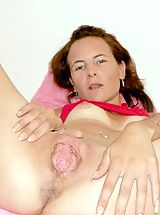 Brutal Dildos Pics: Slut stuffing her pussy with dildo