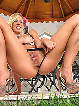Lingerie Pics: Seducing Pretty Housewife #827 Cherie DeVille shows tasty vagina