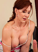 Milf Babes: Hot redhead milf loves the cock