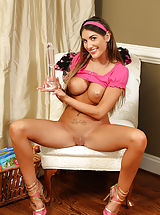 Busty August Ames Gaping Pussy for Cervix Shots