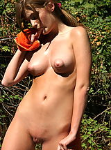 Nipples Pics: faye reagan 02 puffy nipples forest