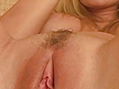 Shaved Pussy Pics, Alison Angelm plays with her new dildo