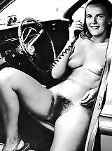 Vintage Babes: Old and Funny 50 s 50s and 60s Photos Of Naturist Girls Exposing their Hirsute Pussies at Exposed Camps and Resorts