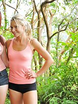 girls mastubating, Nude hike with Lena and Melody