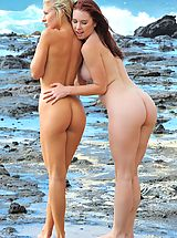 Lena and Melody Beach Bunnies