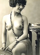 Vintage Pussy: Very Old Genuine Vintage Erotic Postcards with Naked Women from France Circa 1920